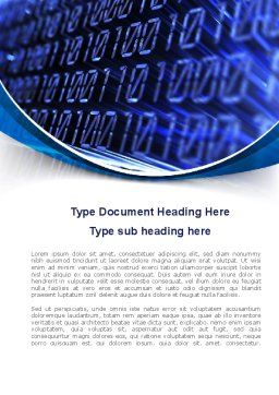 Digital Matrix Word Template, Cover Page, 08849, Technology, Science & Computers — PoweredTemplate.com