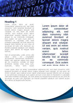 Digital Matrix Word Template, First Inner Page, 08849, Technology, Science & Computers — PoweredTemplate.com