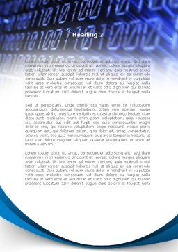 Digital Matrix Word Template, Second Inner Page, 08849, Technology, Science & Computers — PoweredTemplate.com
