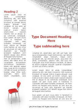 Outstanding Word Template First Inner Page