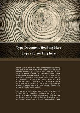 Wooden Growth Rings Word Template, Cover Page, 08853, Consulting — PoweredTemplate.com