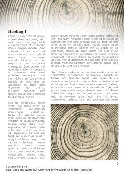 Wooden Growth Rings Word Template, First Inner Page, 08853, Consulting — PoweredTemplate.com