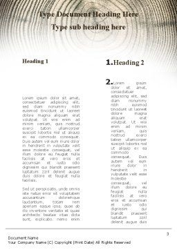 Wooden Growth Rings Word Template, Second Inner Page, 08853, Consulting — PoweredTemplate.com