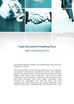 Global Reserve Currency Word Template, Cover Page, 08854, Consulting — PoweredTemplate.com