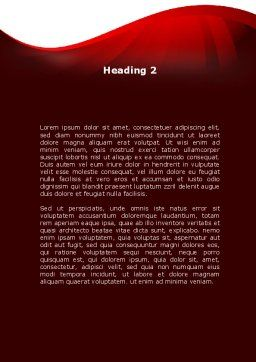 Red Ribbon Awareness Word Template, Second Inner Page, 08856, Medical — PoweredTemplate.com