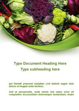 Cabbage Word Template, Cover Page, 08858, Agriculture and Animals — PoweredTemplate.com