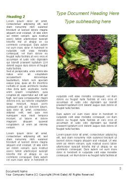 Cabbage Word Template, First Inner Page, 08858, Agriculture and Animals — PoweredTemplate.com