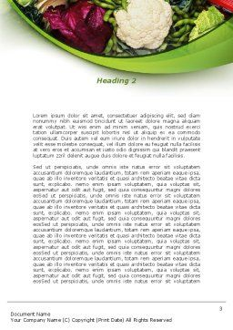 Cabbage Word Template, Second Inner Page, 08858, Agriculture and Animals — PoweredTemplate.com