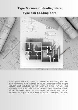Interior Remodeling Word Template, Cover Page, 08859, Careers/Industry — PoweredTemplate.com
