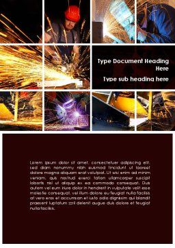 Electric Welding Word Template, Cover Page, 08862, Utilities/Industrial — PoweredTemplate.com