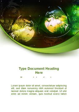 Global Business Word Template, Cover Page, 08865, Global — PoweredTemplate.com