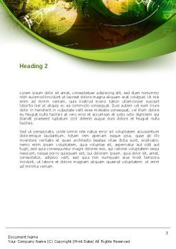 Global Business Word Template, Second Inner Page, 08865, Global — PoweredTemplate.com