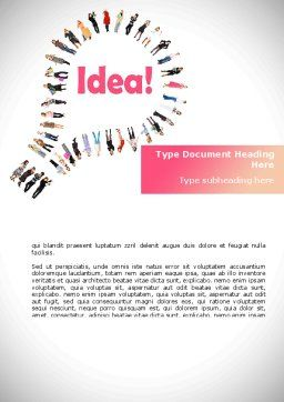 Women's Idea Word Template, Cover Page, 08866, Business Concepts — PoweredTemplate.com