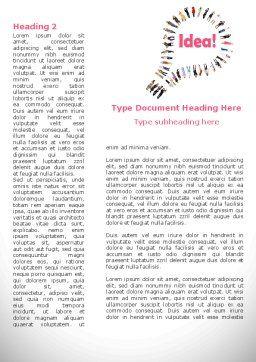 Women's Idea Word Template, First Inner Page, 08866, Business Concepts — PoweredTemplate.com