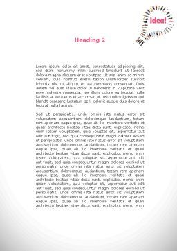 Women's Idea Word Template, Second Inner Page, 08866, Business Concepts — PoweredTemplate.com