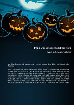 Blue Halloween Night Free Word Template, Cover Page, 08867, Holiday/Special Occasion — PoweredTemplate.com