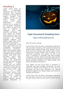 Blue Halloween Night Free Word Template, First Inner Page, 08867, Holiday/Special Occasion — PoweredTemplate.com