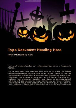 Free Violet Halloween Night Word Template, Cover Page, 08868, Holiday/Special Occasion — PoweredTemplate.com