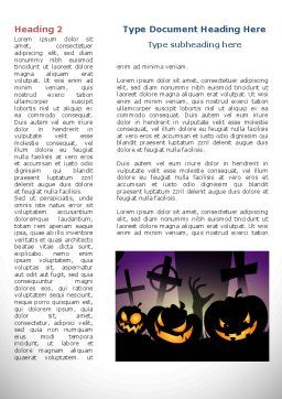 Free Violet Halloween Night Word Template, First Inner Page, 08868, Holiday/Special Occasion — PoweredTemplate.com