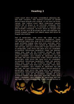 Free Violet Halloween Night Word Template, Second Inner Page, 08868, Holiday/Special Occasion — PoweredTemplate.com