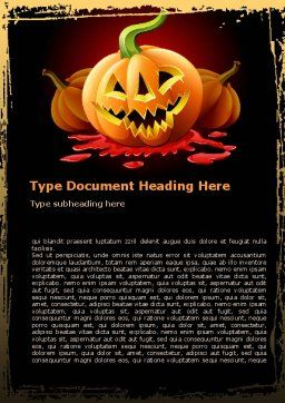 Free Jack-o-Lantern Word Template, Cover Page, 08869, Holiday/Special Occasion — PoweredTemplate.com