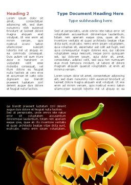 Free Jack-o-Lantern Word Template, First Inner Page, 08869, Holiday/Special Occasion — PoweredTemplate.com
