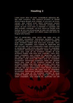 Free Jack-o-Lantern Word Template, Second Inner Page, 08869, Holiday/Special Occasion — PoweredTemplate.com