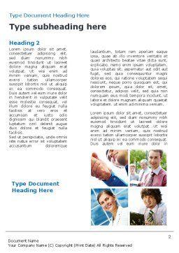 Business Staff Word Template, First Inner Page, 08870, Business — PoweredTemplate.com