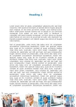Business Staff Word Template, Second Inner Page, 08870, Business — PoweredTemplate.com
