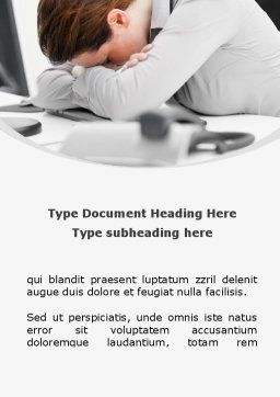 Tiredness Word Template Cover Page