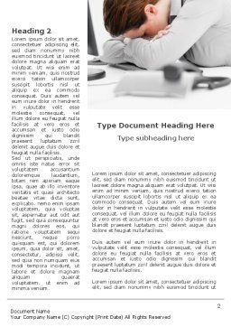 Tiredness Word Template, First Inner Page, 08873, People — PoweredTemplate.com