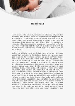 Tiredness Word Template, Second Inner Page, 08873, People — PoweredTemplate.com