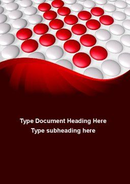 Drug In Tablets Word Template, Cover Page, 08874, Medical — PoweredTemplate.com
