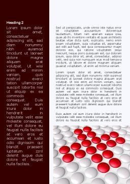 Drug In Tablets Word Template, First Inner Page, 08874, Medical — PoweredTemplate.com