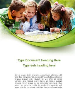 Childrens Reading Book Word Template Cover Page
