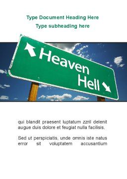 Heaven Or Hell Word Template, Cover Page, 08877, Religious/Spiritual — PoweredTemplate.com