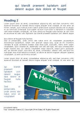 Heaven Or Hell Word Template, First Inner Page, 08877, Religious/Spiritual — PoweredTemplate.com