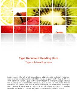 Fruits Word Template, Cover Page, 08878, Food & Beverage — PoweredTemplate.com