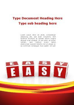 Easy Word Template, Cover Page, 08879, 3D — PoweredTemplate.com