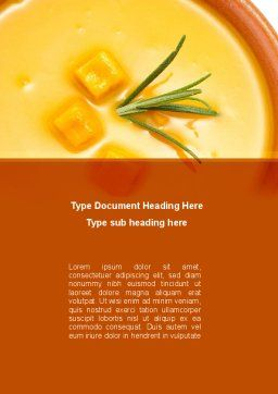 Cream Soup Word Template, Cover Page, 08886, Food & Beverage — PoweredTemplate.com