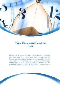 Sandglass Word Template, Cover Page, 08887, Business Concepts — PoweredTemplate.com