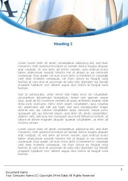 Sandglass Word Template, Second Inner Page, 08887, Business Concepts — PoweredTemplate.com