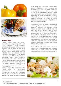 Chicken Salad Word Template, First Inner Page, 08889, Food & Beverage — PoweredTemplate.com