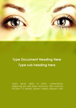 Natural Cosmetic Word Template, Cover Page, 08890, People — PoweredTemplate.com