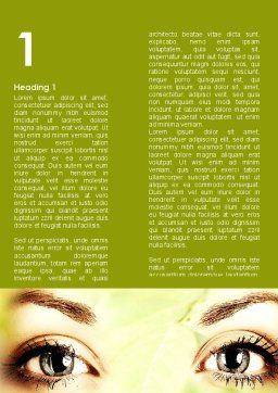 Natural Cosmetic Word Template, First Inner Page, 08890, People — PoweredTemplate.com