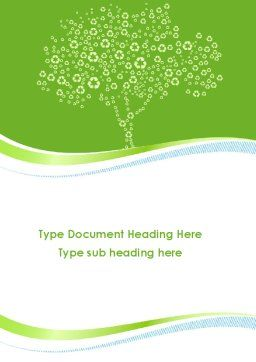 Painted Tree Word Template, Cover Page, 08897, Nature & Environment — PoweredTemplate.com