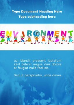 Environmentally World Word Template Cover Page