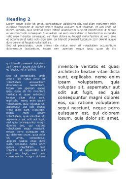 Chatting Bubbles Word Template, First Inner Page, 08904, Telecommunication — PoweredTemplate.com