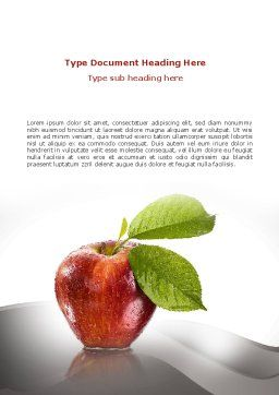 Sweet Red Apple Word Template, Cover Page, 08906, Business Concepts — PoweredTemplate.com