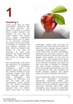 Sweet Red Apple Word Template, First Inner Page, 08906, Business Concepts — PoweredTemplate.com
